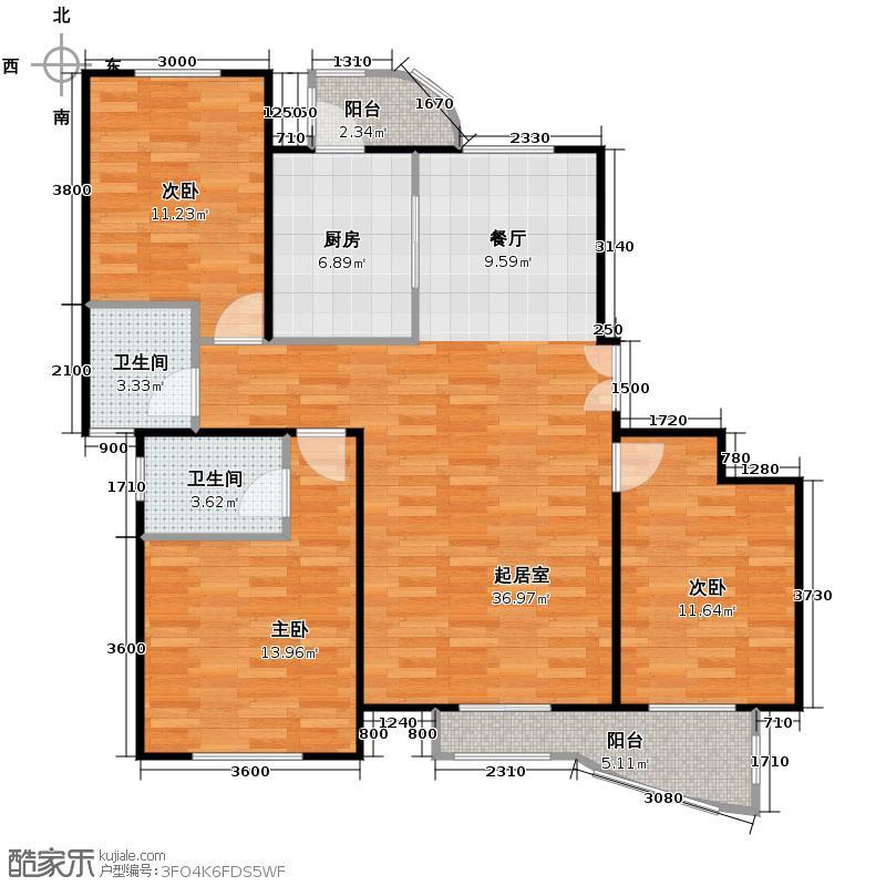 天洋城128.60㎡二期S3户型10室
