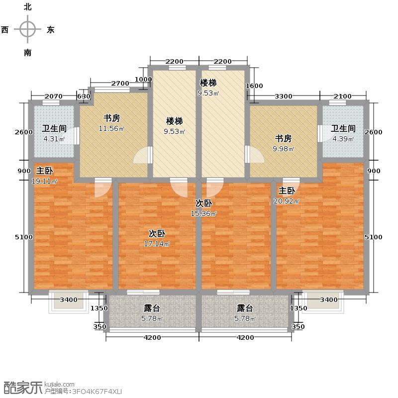 碧桂园豪园153.66㎡户型10室