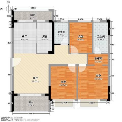 阳光100芒果TOWN3室2厅2卫0厨115.00㎡户型图