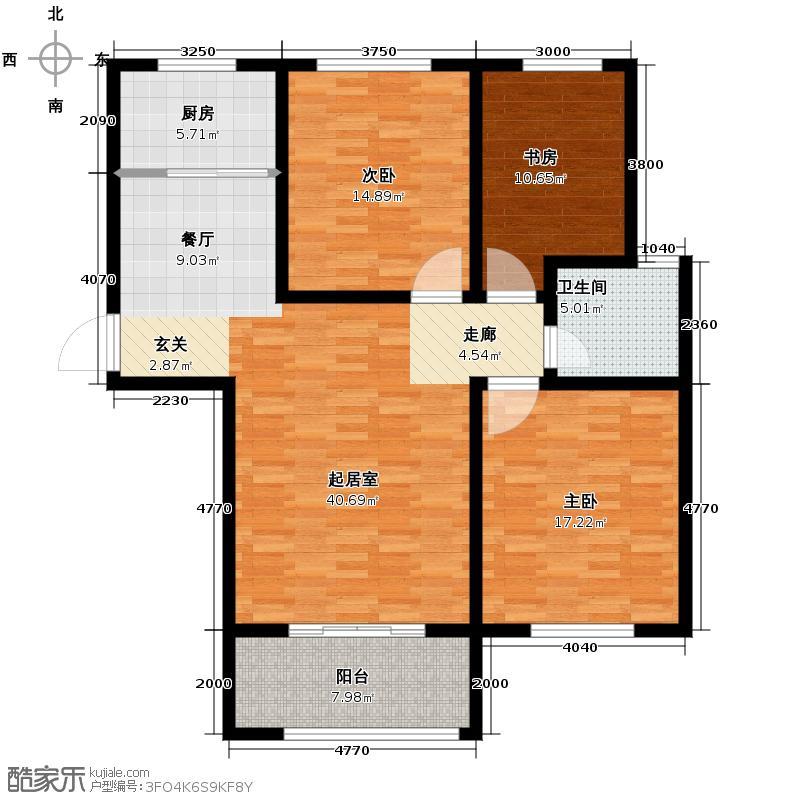 中国铁建・明山秀水115.78㎡户型3室2厅1卫