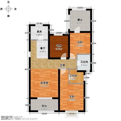 富立秦皇半岛3室2厅2卫0厨125.00㎡户型图