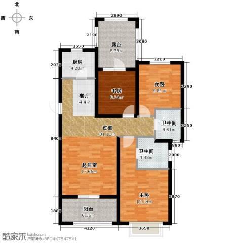 富立秦皇半岛3室2厅2卫0厨126.00㎡户型图
