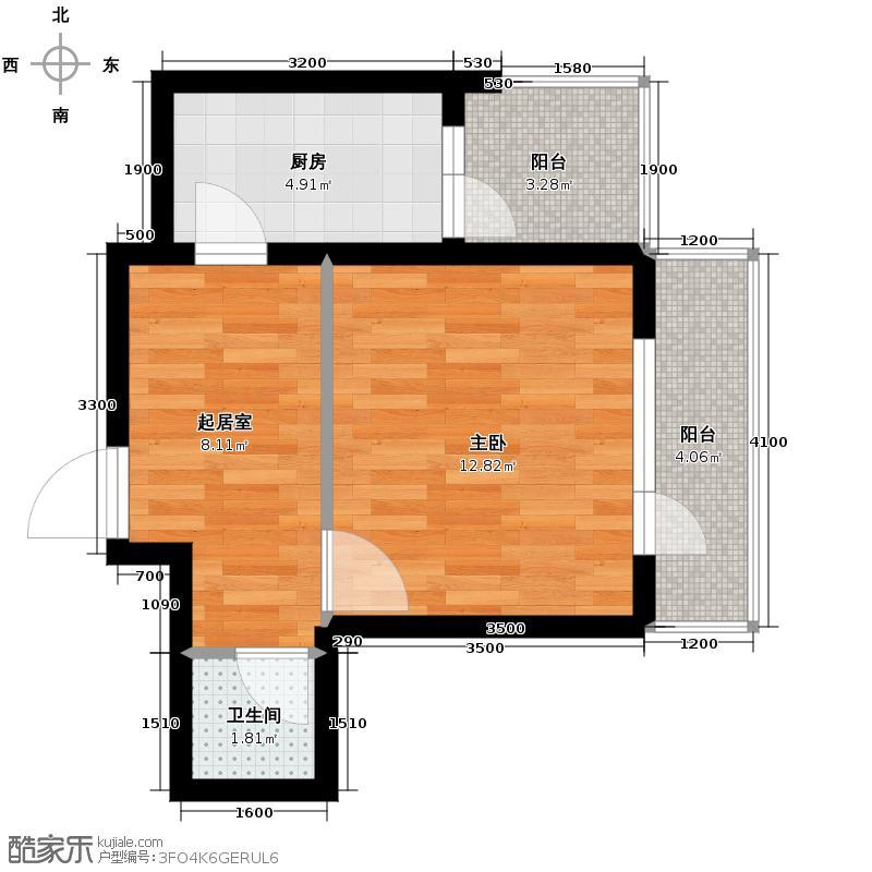 海伦堡42.00㎡C座G户型1室1厅1卫