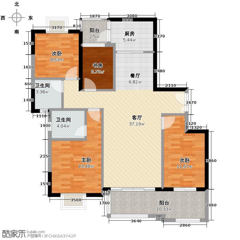 富力金港城116.22㎡A13栋-2层02/03户型10室