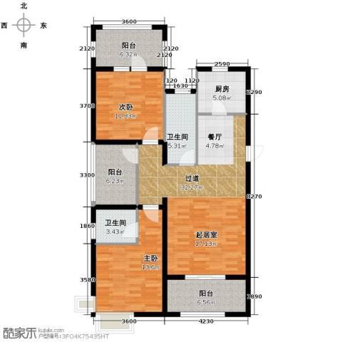 富立秦皇半岛2室2厅2卫0厨118.00㎡户型图