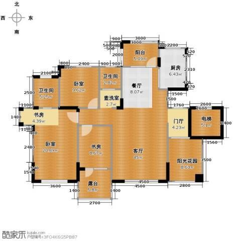 九洲湾景汇1室1厅2卫1厨137.00㎡户型图