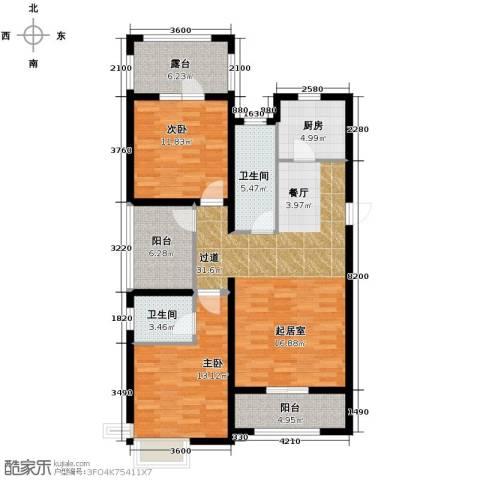 富立秦皇半岛2室2厅2卫0厨116.00㎡户型图