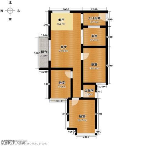 金莎雅苑1厅1卫1厨99.00㎡户型图