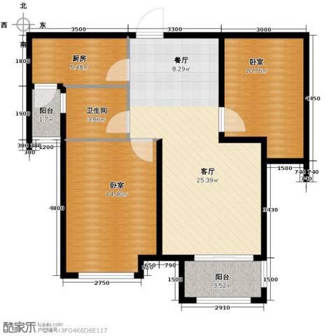 紫御府2室2厅1卫0厨81.00㎡户型图