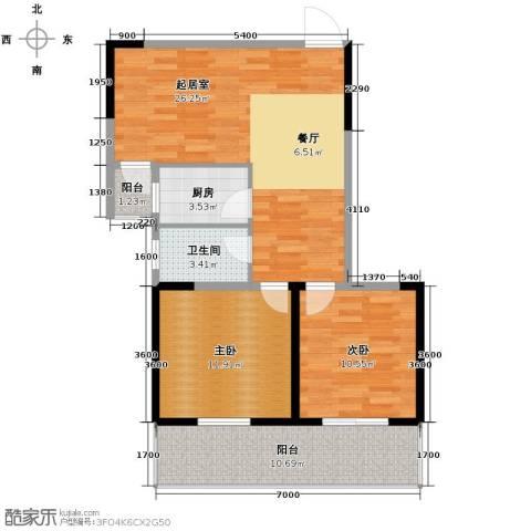 构峰源公馆94.00㎡户型图