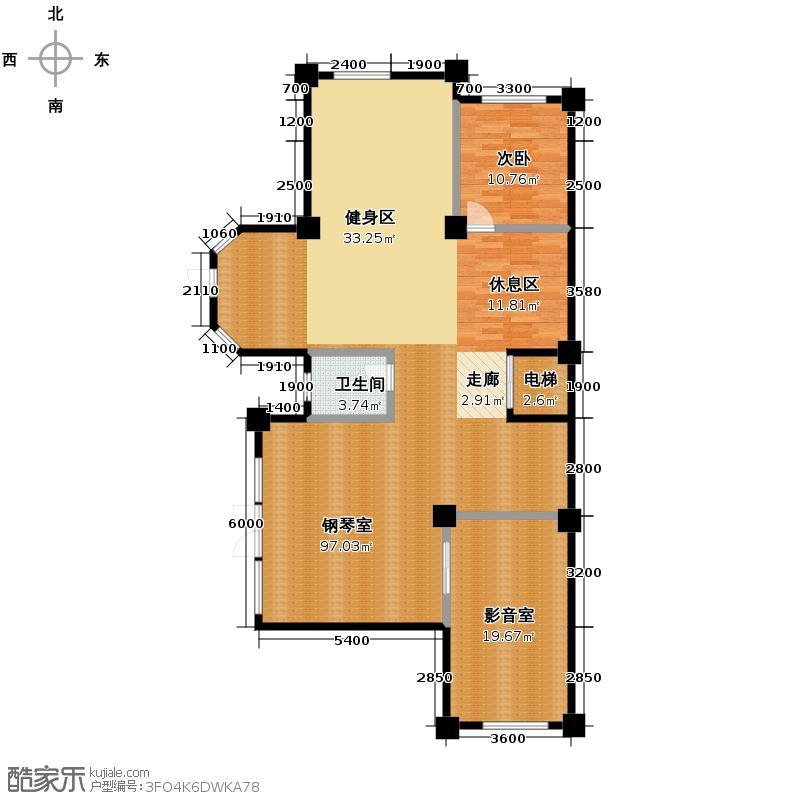 众森红谷一品367.10㎡A地下层平面图户型10室