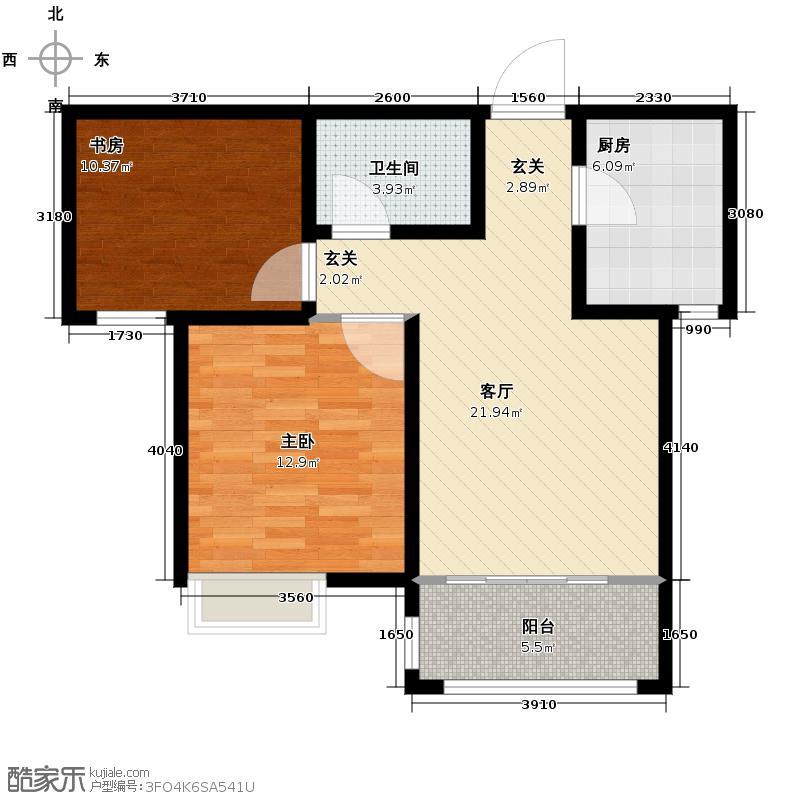 中国铁建・明山秀水73.50㎡户型2室1厅1卫
