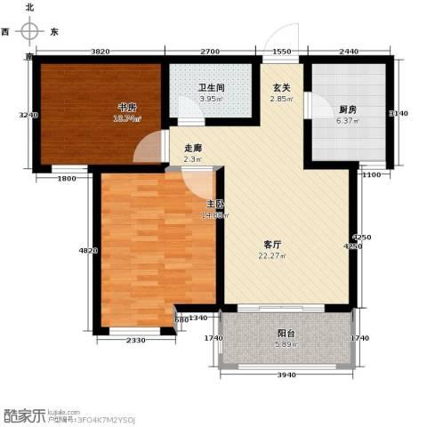 中国铁建・明山秀水2室1厅1卫0厨74.00㎡户型图