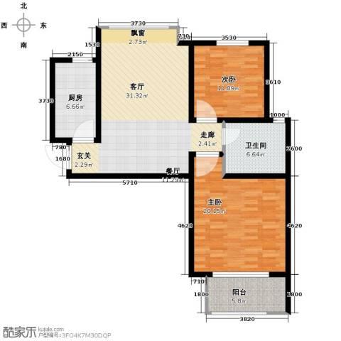 中国铁建・明山秀水2室2厅1卫0厨115.00㎡户型图