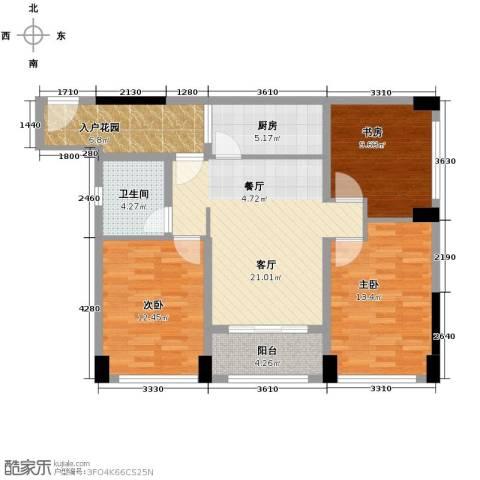 阳光100芒果TOWN3室2厅1卫0厨93.00㎡户型图