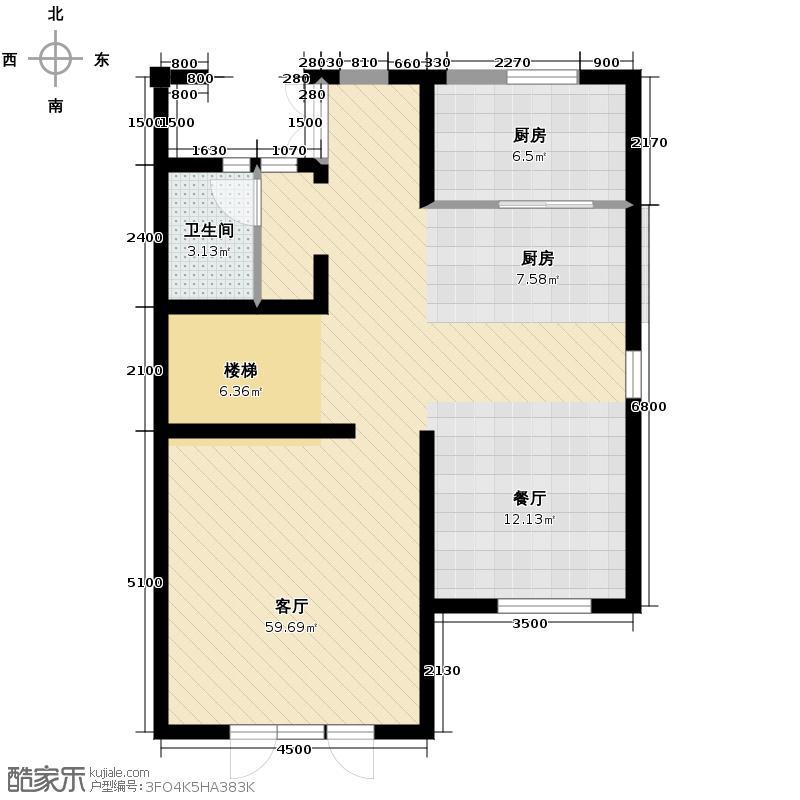 大唐壹号领馆77.31㎡11/12号楼04首层户型10室