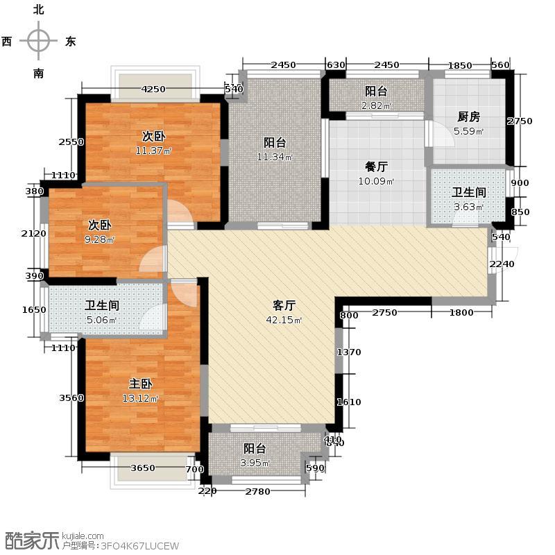 信地城市广场139.00㎡户型3室2厅2卫