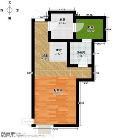 富立秦皇半岛1室1厅1卫0厨52.00㎡户型图