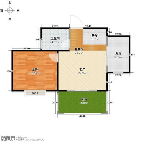 广泰瑞景城1室2厅1卫0厨72.00㎡户型图