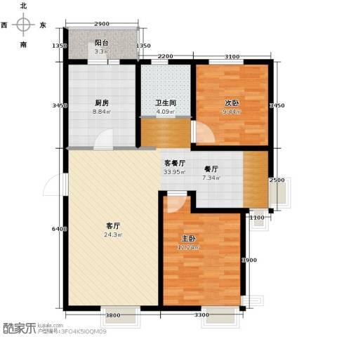 滨海智谛山3室2厅1卫0厨110.00㎡户型图