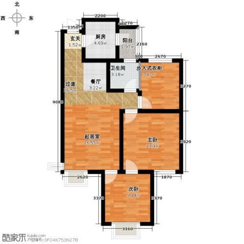 富立秦皇半岛3室2厅1卫0厨101.00㎡户型图