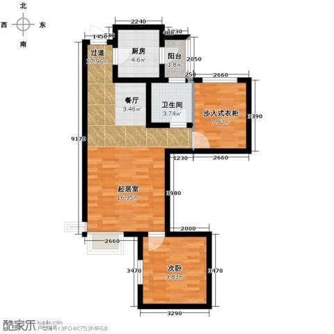 富立秦皇半岛2室2厅1卫0厨80.00㎡户型图