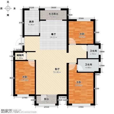 顶秀美泉小镇3室2厅2卫0厨132.00㎡户型图