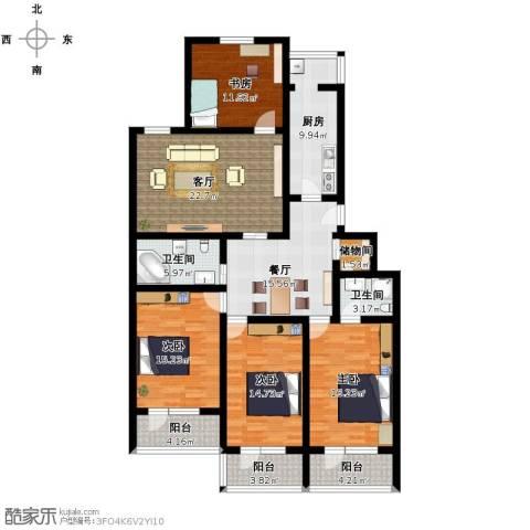 雅芳园4室2厅2卫1厨192.00㎡户型图
