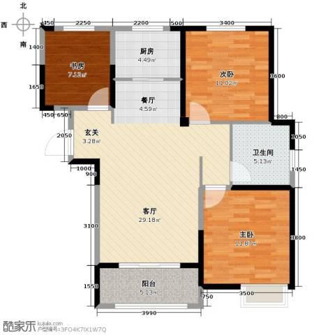 金大地英伦联邦3室2厅1卫0厨100.00㎡户型图