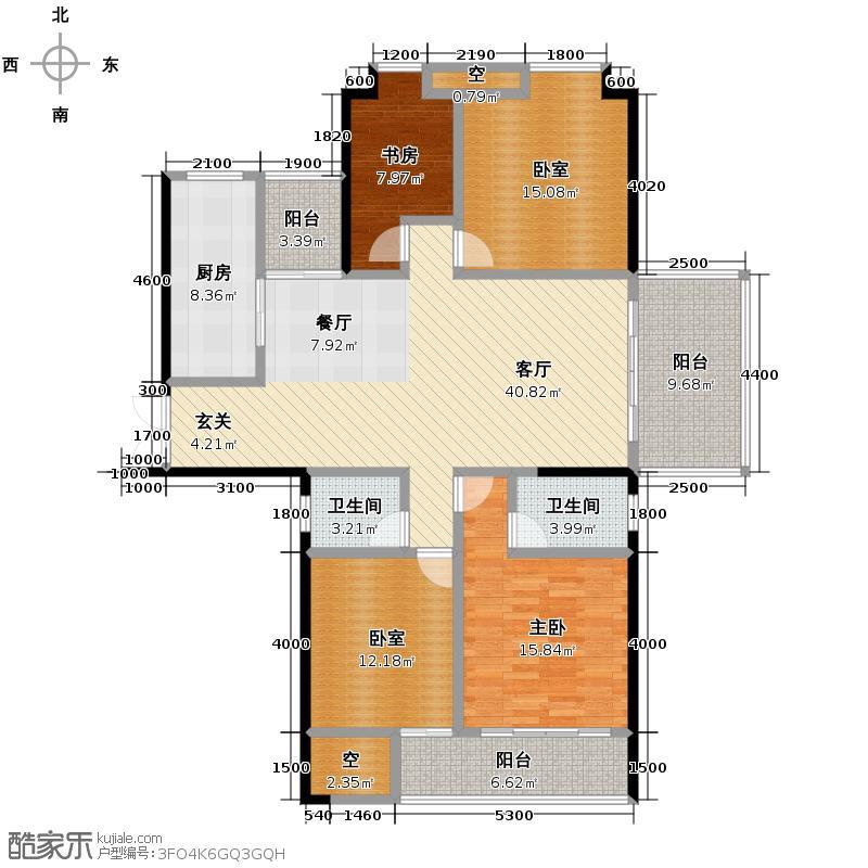 ECO城147.72㎡李时珍的三间房户型10室