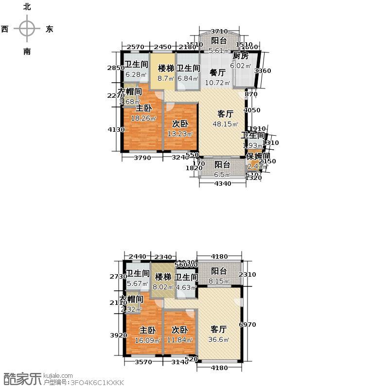 新明半岛229.44㎡H8B复式户型10室