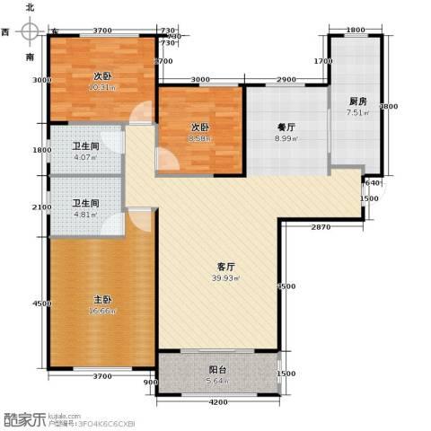 中海寰宇天下3室2厅2卫0厨128.00㎡户型图