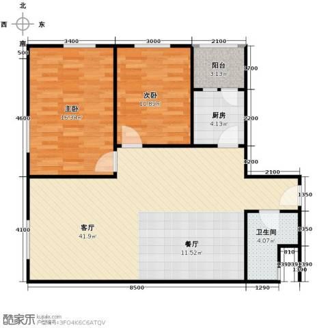 华鸿国际中心2室2厅1卫0厨80.46㎡户型图