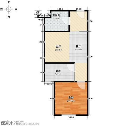 华鸿国际中心1室1厅1卫0厨39.44㎡户型图
