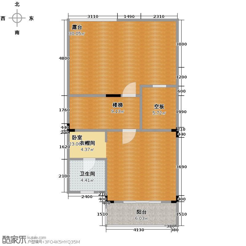 金科东方大院85.03㎡L三层平面图户型10室