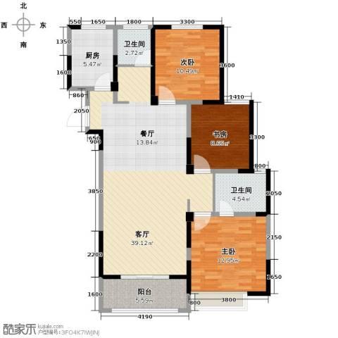 金大地英伦联邦3室2厅2卫0厨120.00㎡户型图