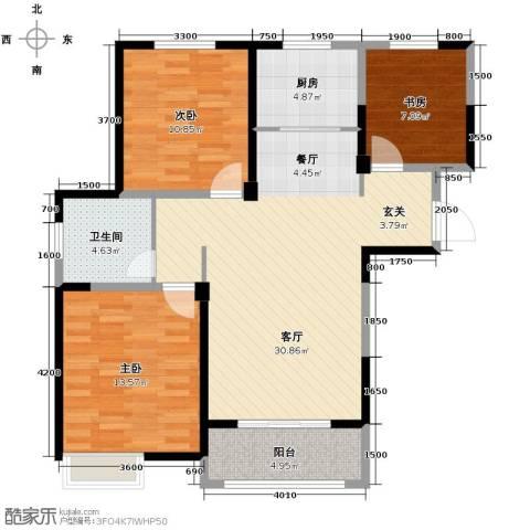 金大地英伦联邦3室2厅1卫0厨105.00㎡户型图