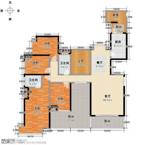 益阳御景东方4室2厅2卫0厨174.37㎡户型图
