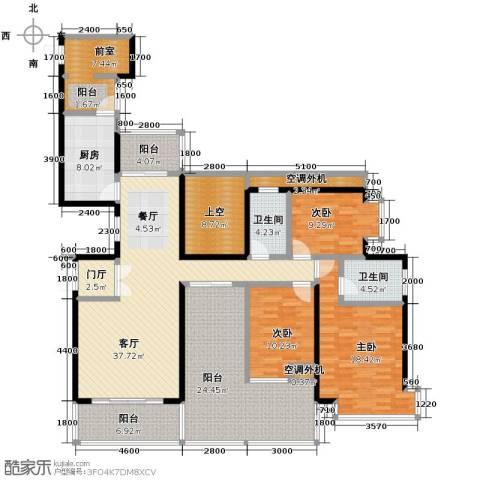益阳御景东方3室2厅2卫0厨149.25㎡户型图