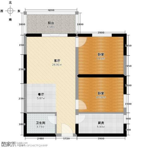 天伦御城龙脉2室2厅1卫0厨85.00㎡户型图