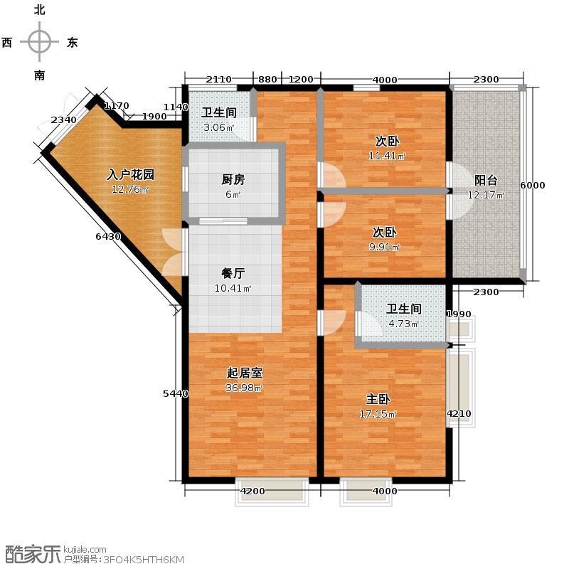 四季风情131.50㎡1II4-1-104户型10室