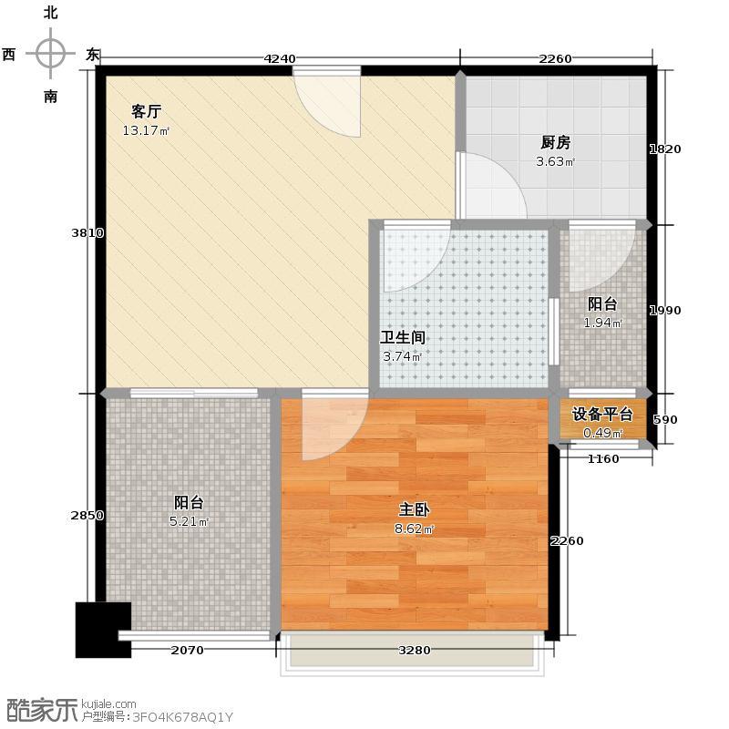 天昌东盟中央城88.54㎡A6栋05户型3室2厅2卫