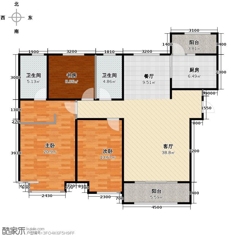 中海国际社区143.00㎡御河户型3室2厅2卫