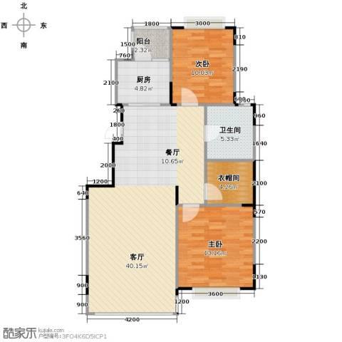 天安第一城2室2厅1卫0厨85.67㎡户型图