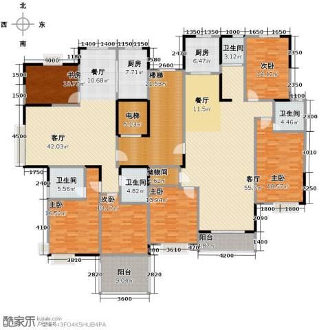 山语银城6室2厅4卫2厨260.16㎡户型图