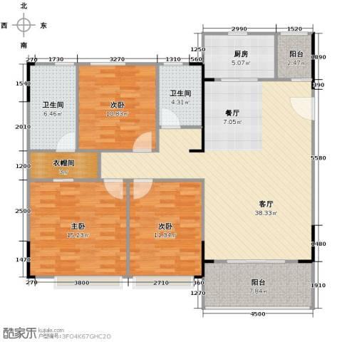 阳光100芒果TOWN3室2厅2卫0厨124.00㎡户型图