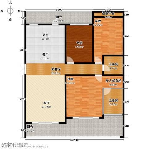 万联・晋海3室2厅2卫0厨175.00㎡户型图