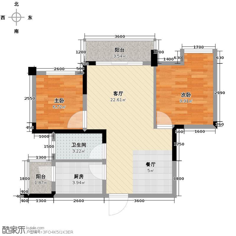华宇楠苑65.57㎡14栋3-10层3-32010年11月在售户型2室1厅1卫1厨