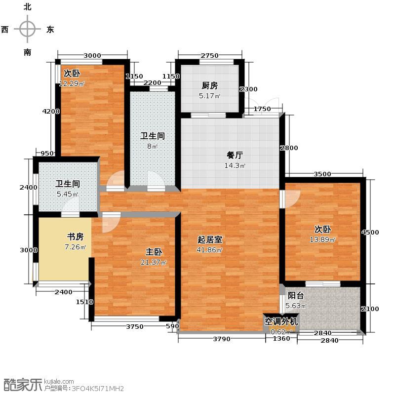 松江运河城161.14㎡C户型3室2厅2卫