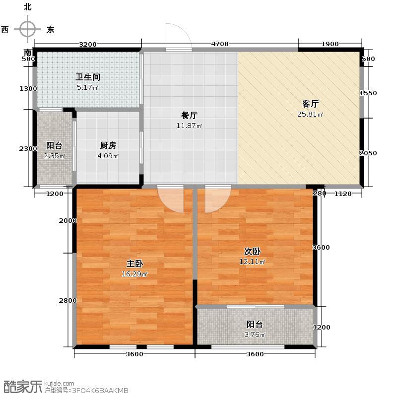 航天双城90.00㎡房型户型10室